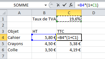 Optimisation de la formule