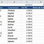 Comment faire des sous-totaux sur Excel ?