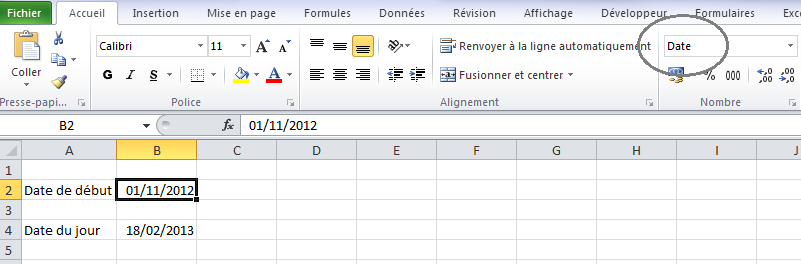 Format Date Excel