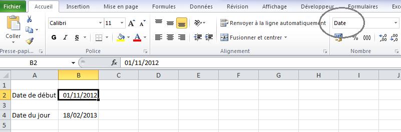 Format Date Excel