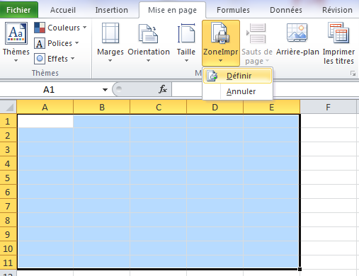 convertir un document excel en pdf