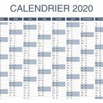 Calendrier Excel 2020 à télécharger