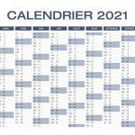 Calendrier Excel 2021 à télécharger